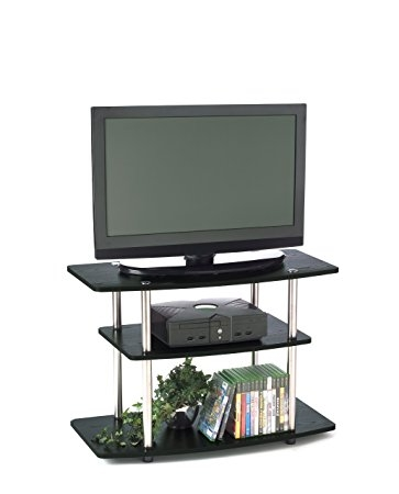 Excellent Deluxe 32 Inch TV Stands Regarding Amazon Convenience Concepts Designs2go 3 Tier Tv Stand For (Image 14 of 50)