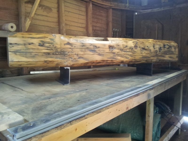 Excellent Deluxe Beam Through TV Stands Pertaining To Contemporary Barn Beam Tv Standbench Rebarn Toronto Sliding (View 20 of 50)