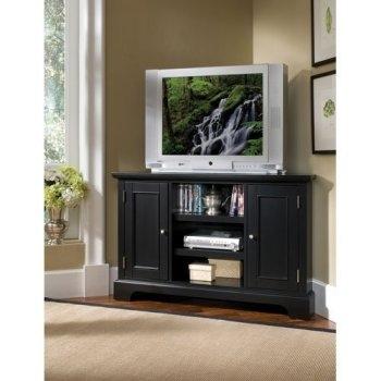 Excellent Deluxe Black Wood Corner TV Stands Within Corner Tv Stands Top 10 Best Rated Corner Tv Cabinets  (Image 13 of 50)