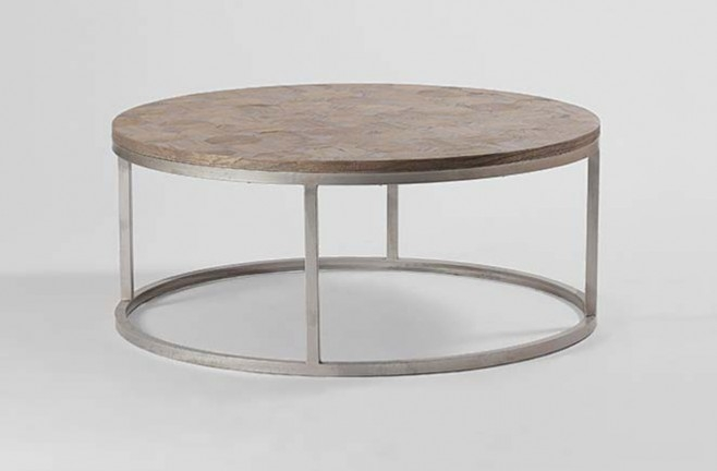 Excellent Deluxe Chrome And Wood Coffee Tables Intended For Coffee Table Reclaimed Wood Coffee Table Round Round Metal (Image 10 of 50)
