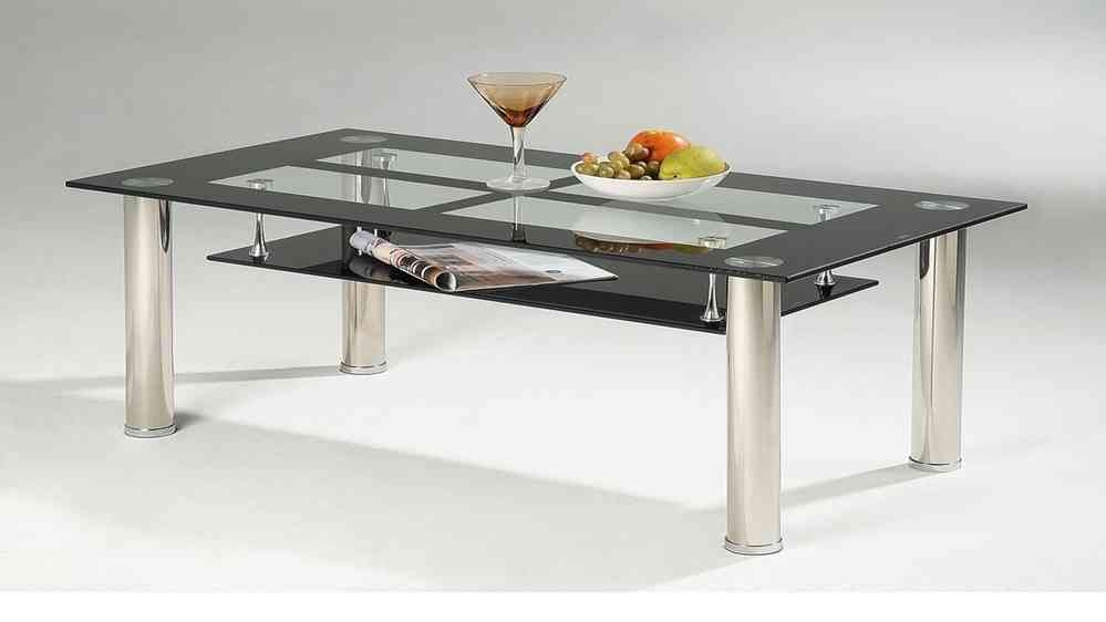 Excellent Deluxe Coffee Tables With Chrome Legs For Black Glass Coffee Table With Chrome Legs Homegenies (Image 13 of 50)