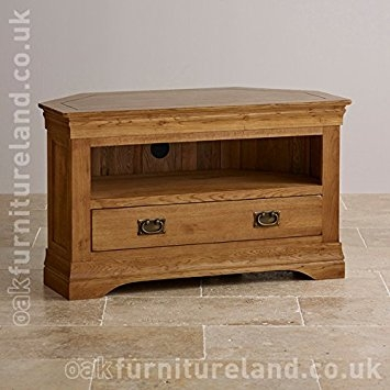 Excellent Deluxe Corner Oak TV Cabinets Regarding French Farmhouse Rustic Solid Oak Corner Tv Cabinet Amazoncouk (View 14 of 50)