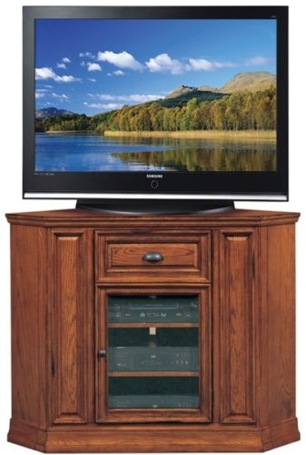 Excellent Deluxe Corner TV Stands 46 Inch Flat Screen Intended For Corner Tv Stand For Flat Screen 46 Inch Wide Oak Wood Storage (Image 14 of 50)