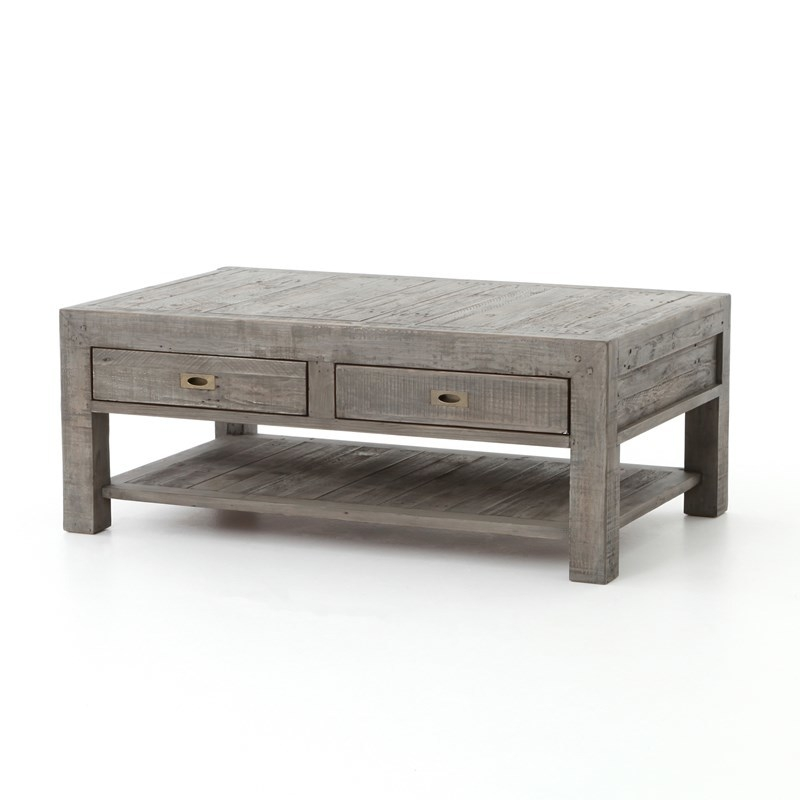 Excellent Deluxe Gray Wood Coffee Tables Pertaining To Gray Wood Coffee Table (Image 13 of 50)