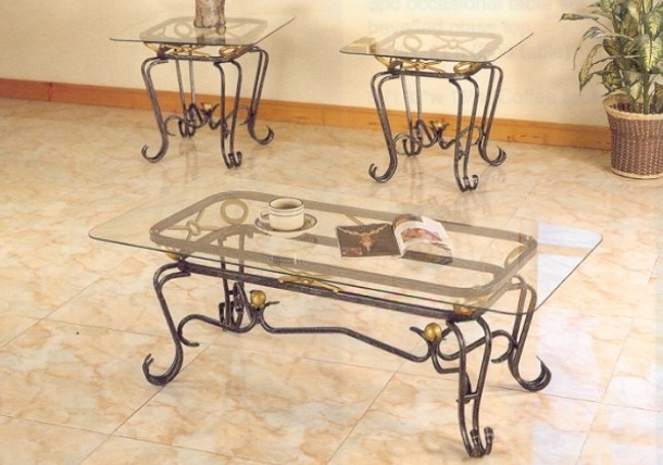 Excellent Deluxe Iron Glass Coffee Table Intended For Wrought Iron And Glass Coffee Table Idi Design (Image 15 of 50)