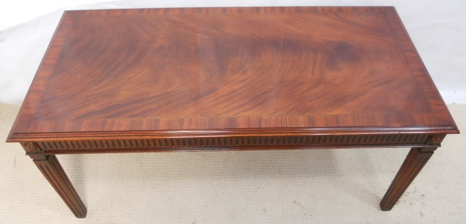 Excellent Deluxe Mahogany Coffee Tables Throughout Georgian Style Mahogany Long Coffee Table (Image 10 of 50)