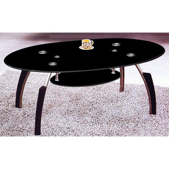 Excellent Deluxe Oval Black Glass Coffee Tables Pertaining To 89 Best Glass Coffee Tables Images On Pinterest (Image 15 of 50)