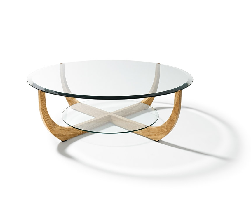Excellent Deluxe Oval Shaped Glass Coffee Tables Within Round Glass Coffee Table (Image 15 of 50)