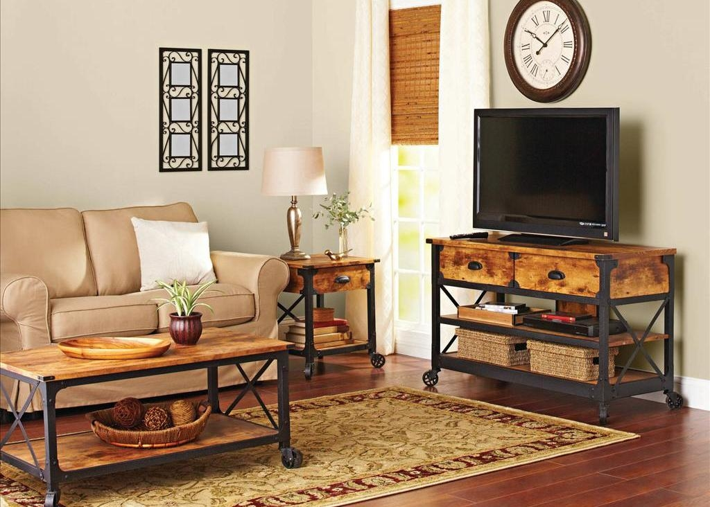 Excellent Deluxe Rustic Coffee Tables And Tv Stands Intended For Furniture Rustic Coffee Table For All Types Of Rooms In The House (View 29 of 50)