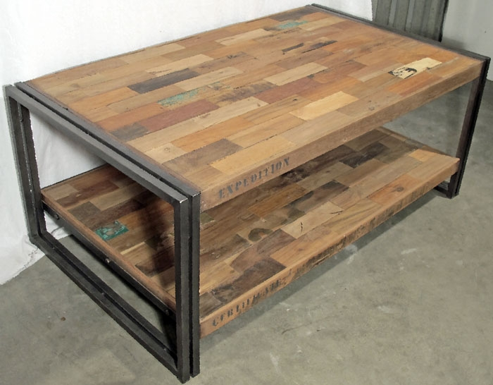 Excellent Deluxe Rustic Coffee Tables With Bottom Shelf In Furniture Interesting Reclaimed Wood Tv Stand For Home Furniture (View 33 of 50)