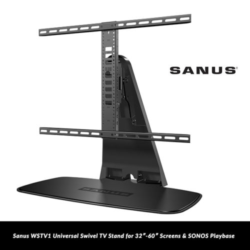 Excellent Deluxe Sonos TV Stands Intended For Sanus Wstv1 Universal Swivel Tv Stand For 32 60 Screens Sonos (View 28 of 50)
