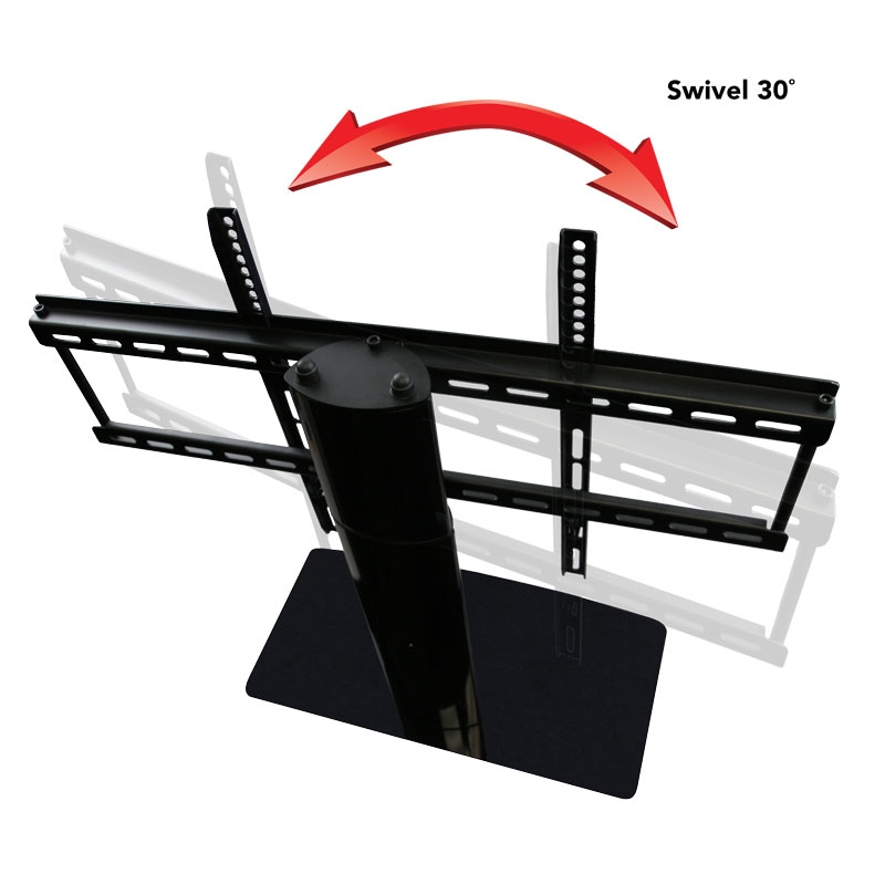 Excellent Deluxe Swivel TV Stands With Mount Pertaining To Universal Tv Stand Kit With Universal Tv Stand And Soundbar Mount (Image 20 of 50)