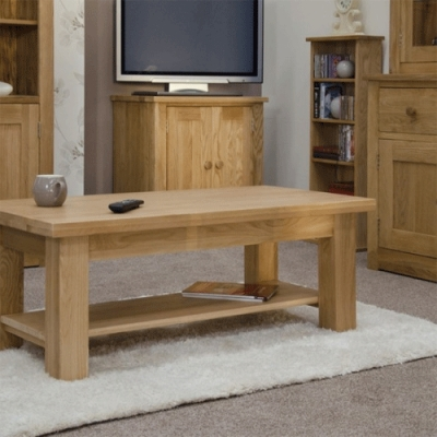 Excellent Deluxe Torino Coffee Tables With Regard To Oak Coffee Tables Online Furniture Plus Uk (Image 13 of 40)