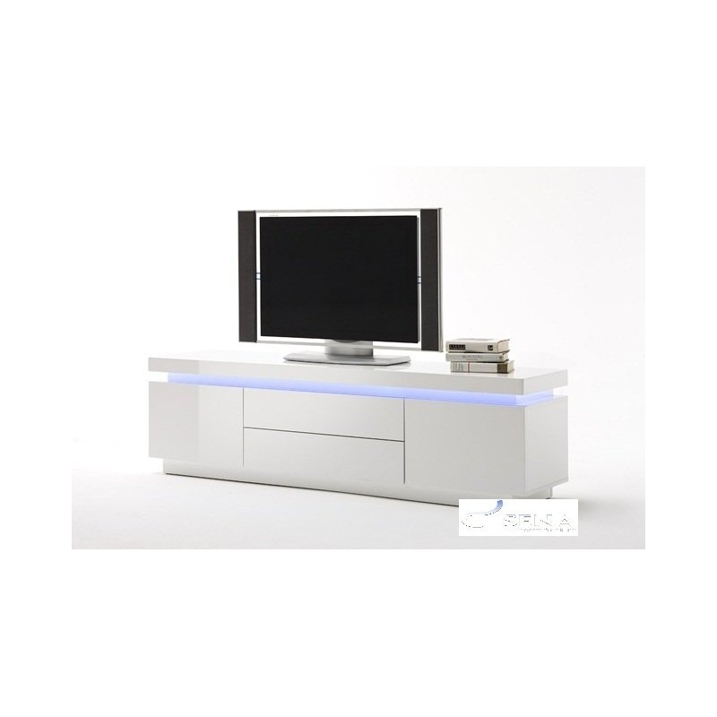 Excellent Deluxe White Gloss Corner TV Stands Within White Black Gloss Tv Units Stands And Cabinets Sena Home (View 6 of 50)