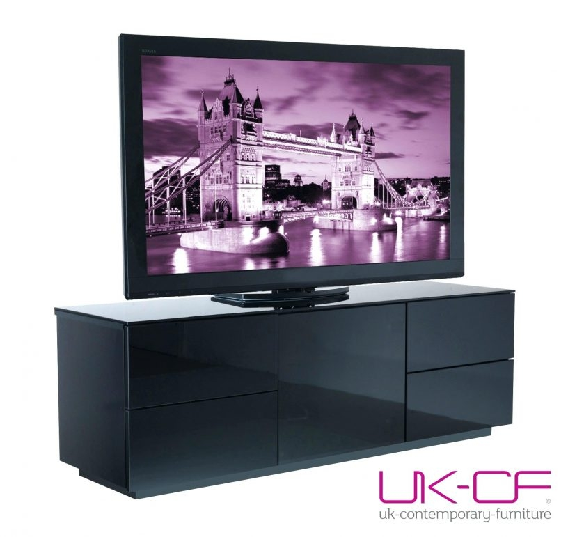 Excellent Elite Black TV Cabinets With Drawers Inside Black Tv Cabinet With Drawer Sequimsewingcenter (Image 14 of 50)