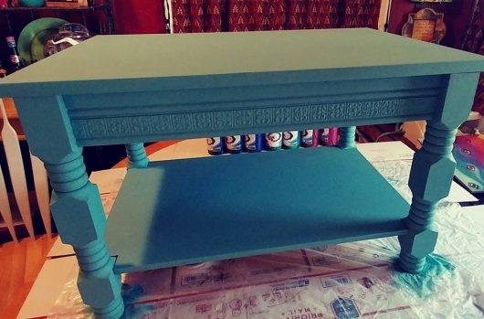 Excellent Elite Boho Coffee Tables Pertaining To Stencil A Boho Chic Table Using A Mandala Pattern Stencil Stories (View 41 of 50)