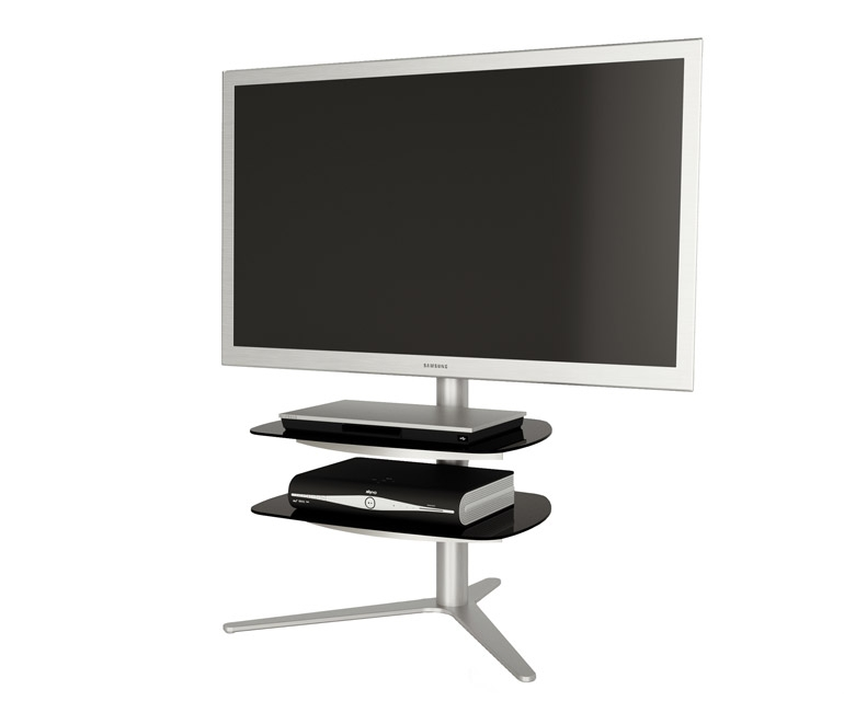 Excellent Elite Bracketed TV Stands Within Alphason Radius Rad720 Silver Tv Stand W Tv Bracket Alphason (Image 19 of 50)