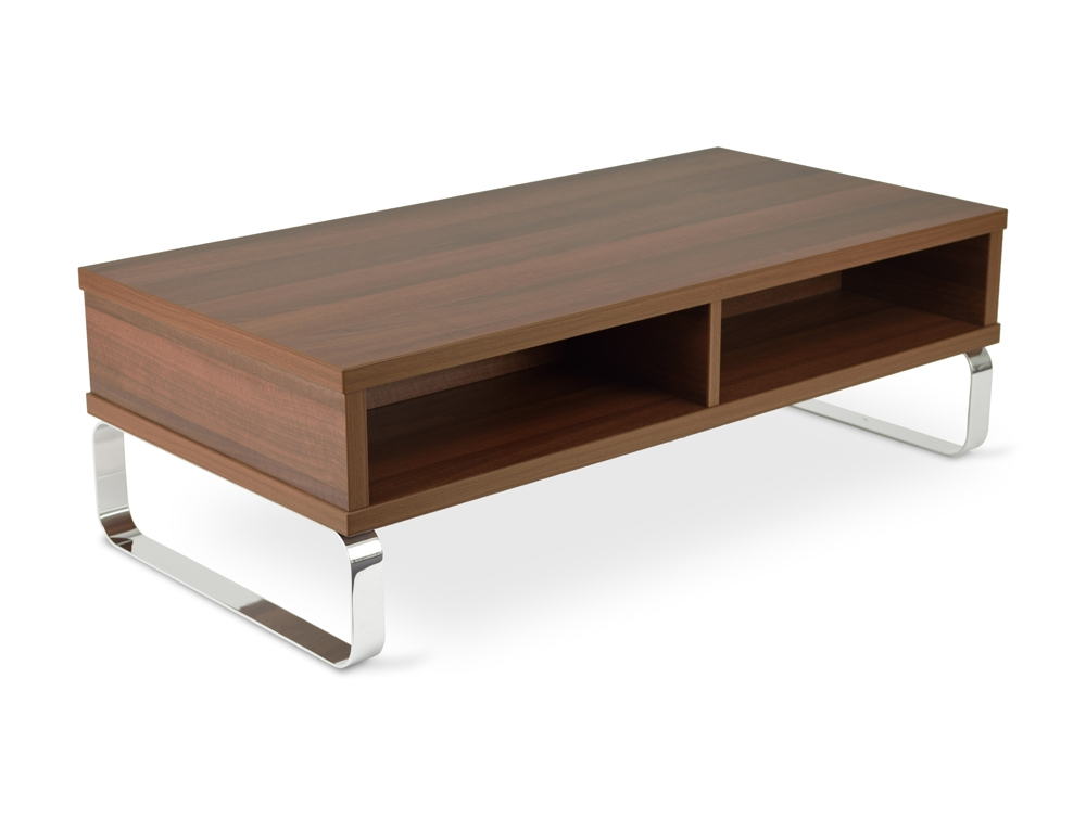 Excellent Elite Chrome And Wood Coffee Tables With Regard To Chrome And Wood Coffee Table Furniture Roy Home Design (View 27 of 50)