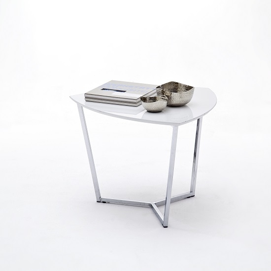 Excellent Elite Chrome Leg Coffee Tables Throughout Banham Coffee Table In High Gloss White With Chrome Legs (Image 21 of 50)
