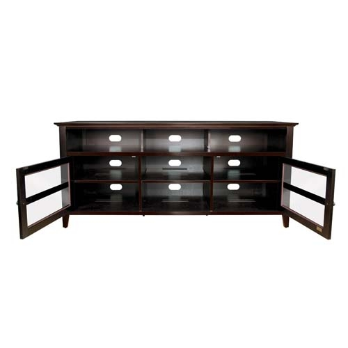 Excellent Elite Dark Wood TV Cabinets With Bello No Tools Assembly 65 Inch Wood Tv Cabinet Dark Espresso (View 21 of 50)