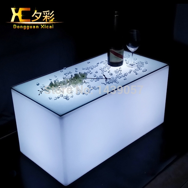 Excellent Elite Led Coffee Tables Throughout Aliexpress Buy Plastic Led Bar Coffee Table Luminous (Image 14 of 50)