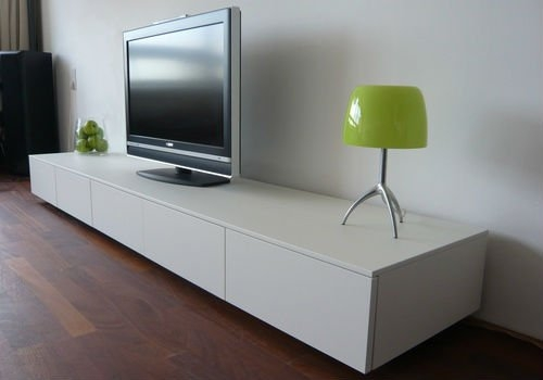 Excellent Elite Long White TV Stands With Regard To Bathroom Stylish Stanley Lcd Tv Stand In White With 2 Drawers (Image 15 of 50)