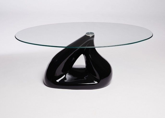 Excellent Elite Oval Black Glass Coffee Tables With Best 25 Round Glass Coffee Table Ideas On Pinterest Ikea Glass (Image 16 of 50)