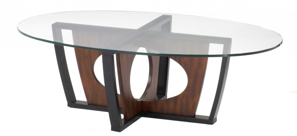 Excellent Elite Oval Glass And Wood Coffee Tables In Good Looking Oval Glass Coffee Table (Image 14 of 50)