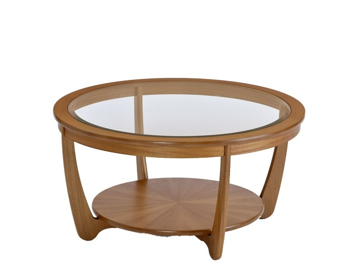 Excellent Elite Round Glass And Wood Coffee Tables Pertaining To Great Glass Top Round Coffee Table With Round Glass Top Coffee (View 46 of 50)