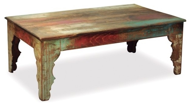 Excellent Elite Rustic Style Coffee Tables Intended For La Boca Carved Leg Rustic Style Reclaimed Wood Coffee Table (View 47 of 50)