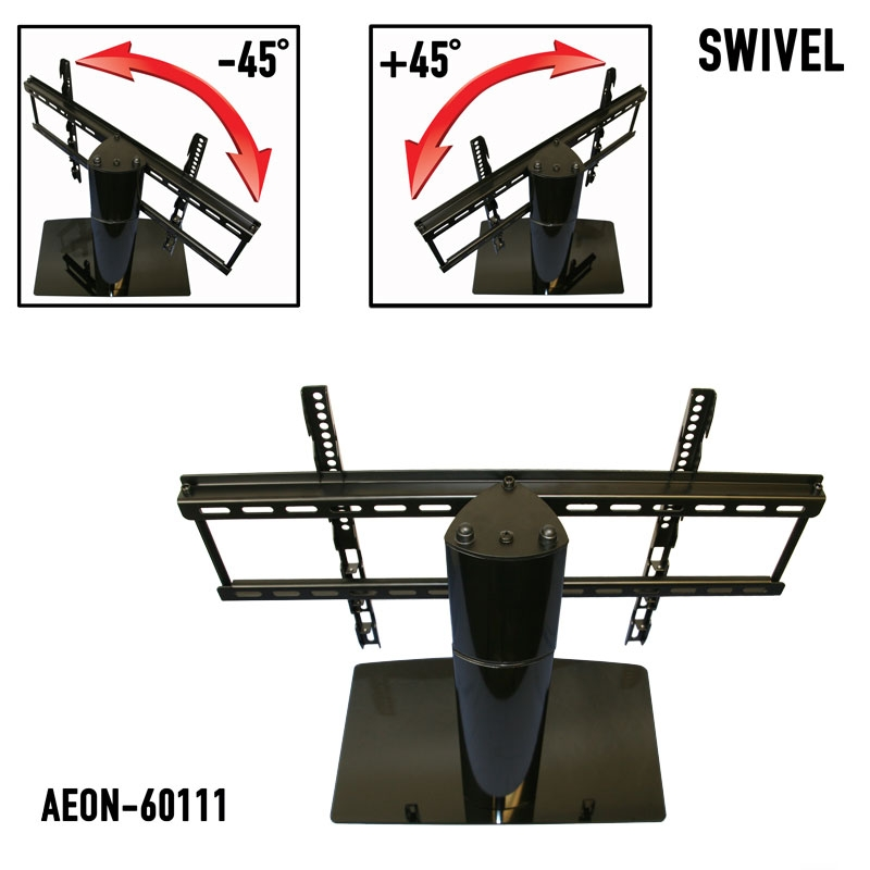 Excellent Elite Swivel TV Stands With Mount With Regard To Universal Tabletop Tv Stand Swivel Height Adjustment Av (Image 22 of 50)