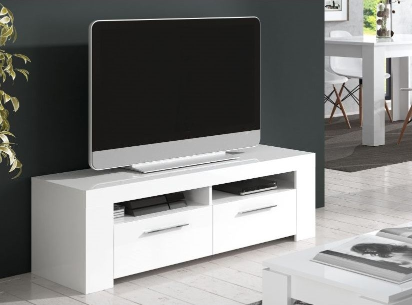 Excellent Elite White Gloss TV Cabinets For Home Est Crystal White Gloss Tv Cabinet Entertainment Unit (Image 14 of 50)