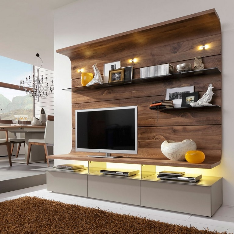 Excellent Elite Wood Corner TV Cabinets Within White And Wood Tv Stand (Image 11 of 50)