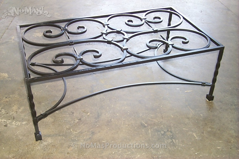 Excellent Elite Wrought Iron Coffee Tables Intended For Custom Wrought Iron Coffee Table No Mas Productions (Image 13 of 50)