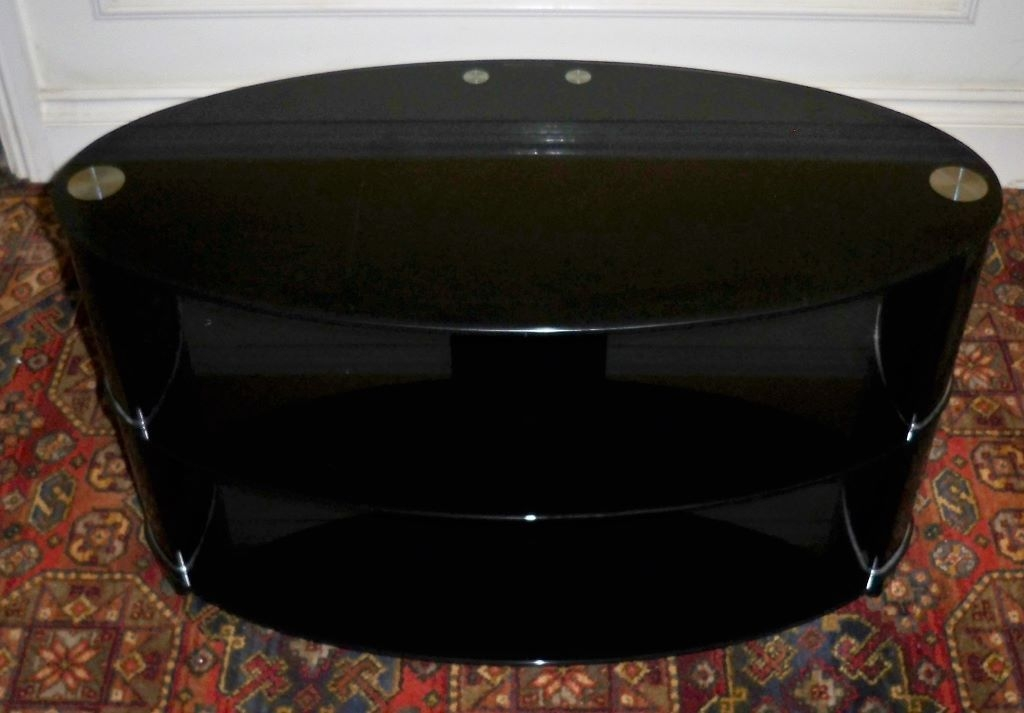 Excellent Famous Black Oval TV Stands Inside Black Glass Oval Tv Stand Tv Dvd Cameras Tv Dvd Cameras (Image 12 of 50)