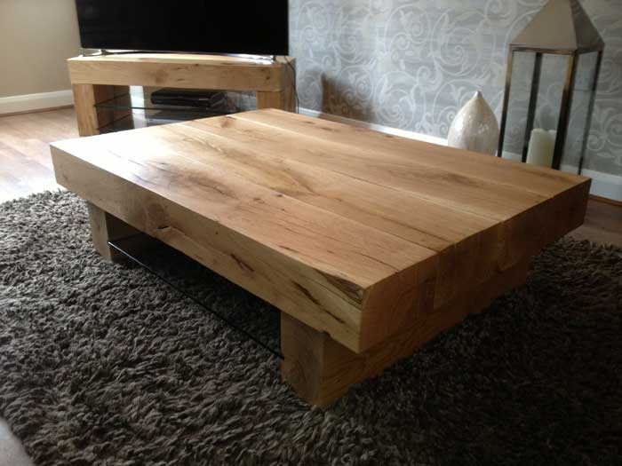 Excellent Famous Chunky Wood Coffee Tables Throughout Chunky Wood Tables Tarzantablescouk (Image 12 of 50)