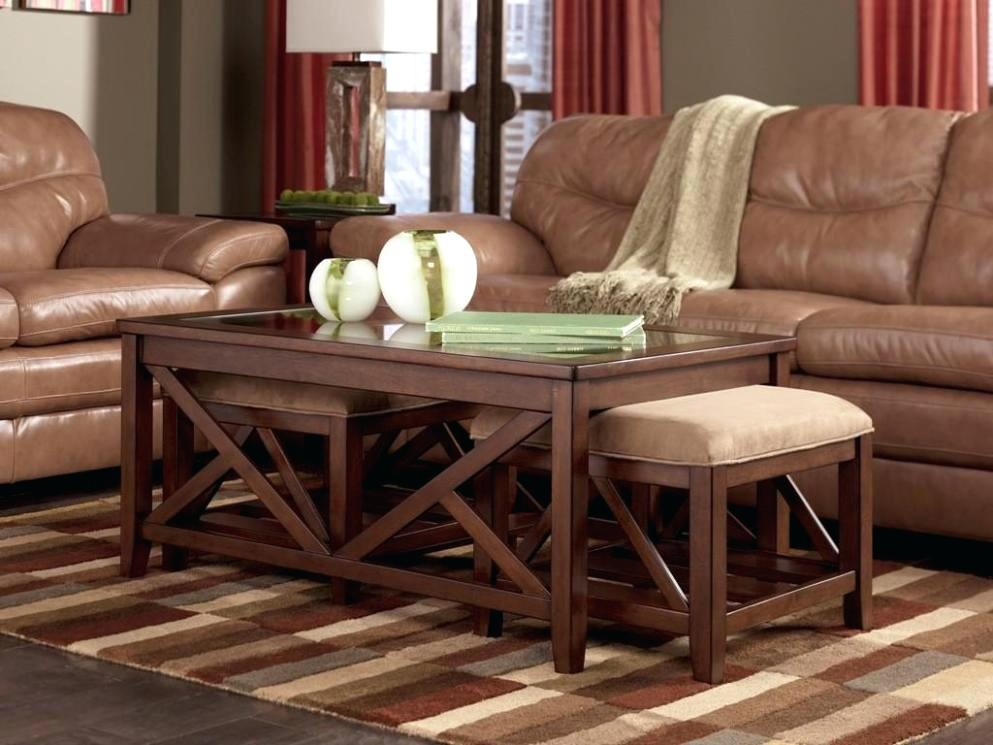 Excellent Famous Coffee Tables With Nesting Stools In Coffee Table Coffee Tables With Nesting Ottomansround Table (Image 18 of 50)