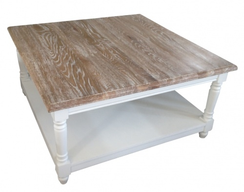 Excellent Famous French White Coffee Tables In Living Room Best French Chateau White Square Oak Coffee Table With (View 30 of 50)