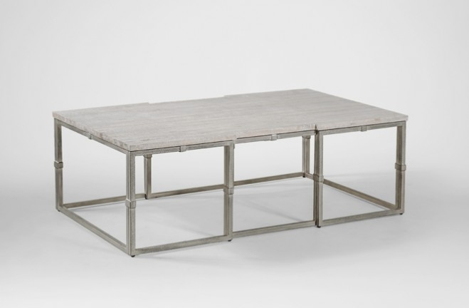 Excellent Famous Grey Wood Coffee Tables Intended For Coffee Table Grey Wood Rectangular Brushed Silver Alden (Image 16 of 50)