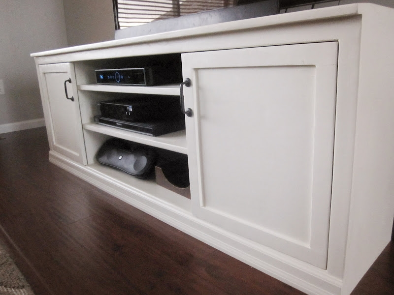 Excellent Famous Large White TV Stands Regarding Kriskraft Tv Stand (View 32 of 50)