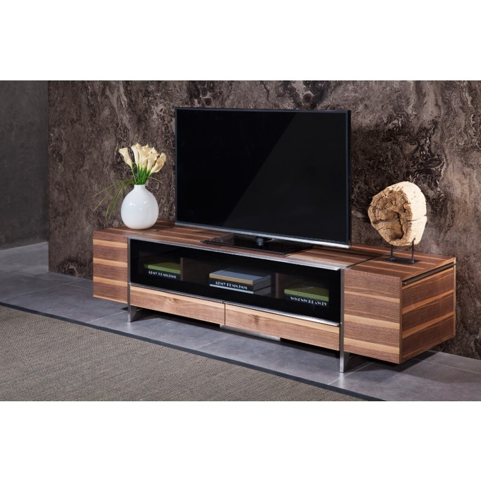 Excellent Famous Modern Walnut TV Stands Inside Nova Domus Lorena Modern Walnut Tv Stand (Image 17 of 50)