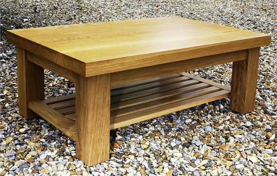 Excellent Famous Oak Coffee Table With Shelf Inside Tables And Desks From English Wood Handmade James Dawson (View 9 of 50)