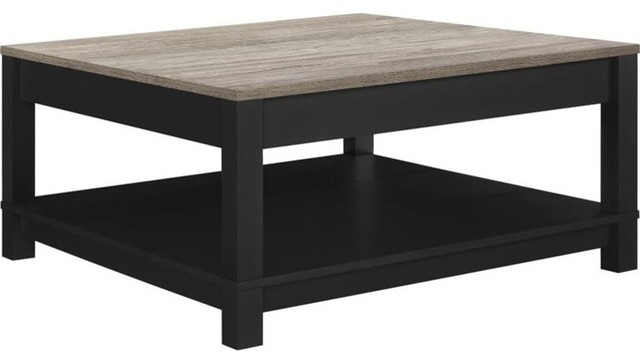 Excellent Famous Oak Square Coffee Tables With Carver Square Coffee Table Sonoma Oak Transitional Coffee (Image 11 of 50)