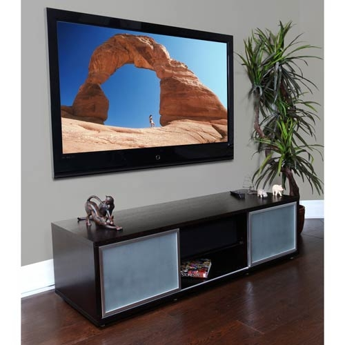 Excellent Famous Oak TV Stands For Flat Screens Within Sr 65 Inch Black Oak Tv Stand Plateau Tv Cabinets Tv Stands (Image 19 of 50)