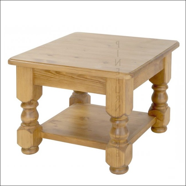 Excellent Famous Pine Coffee Tables Intended For Solid Pine 2ft X 2ft Refectory Coffee Table With Shelf (Image 17 of 50)