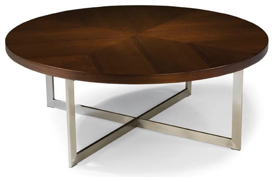 Excellent Famous Round Chrome Coffee Tables With Regard To Round Modern Coffee Table (Image 10 of 50)