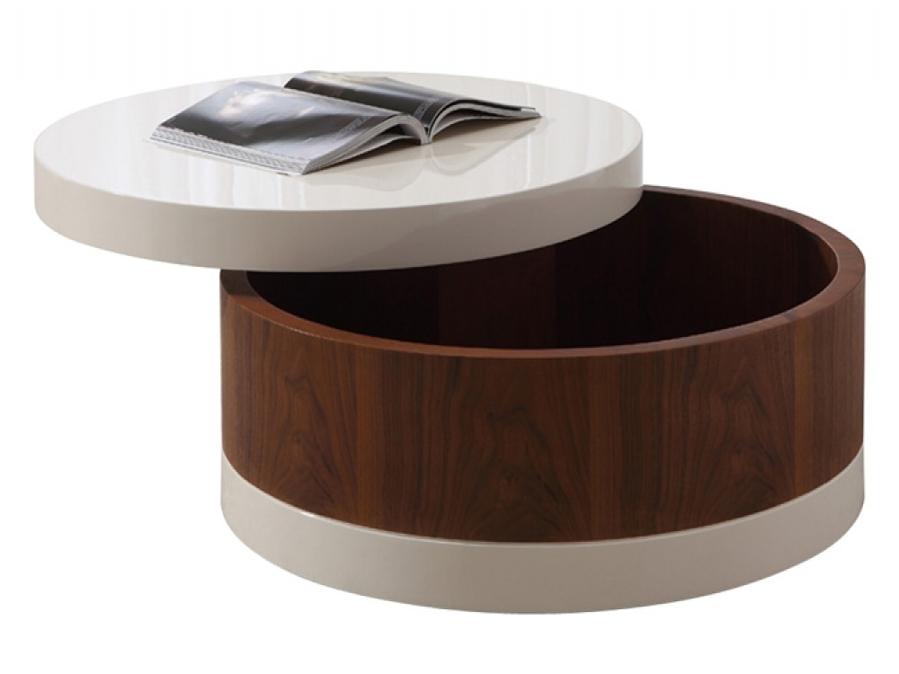 Excellent Famous Round Storage Coffee Tables Inside Round Coffee Table With Storage Furniture Dare Fish Tank Base Ebreg (Image 13 of 50)