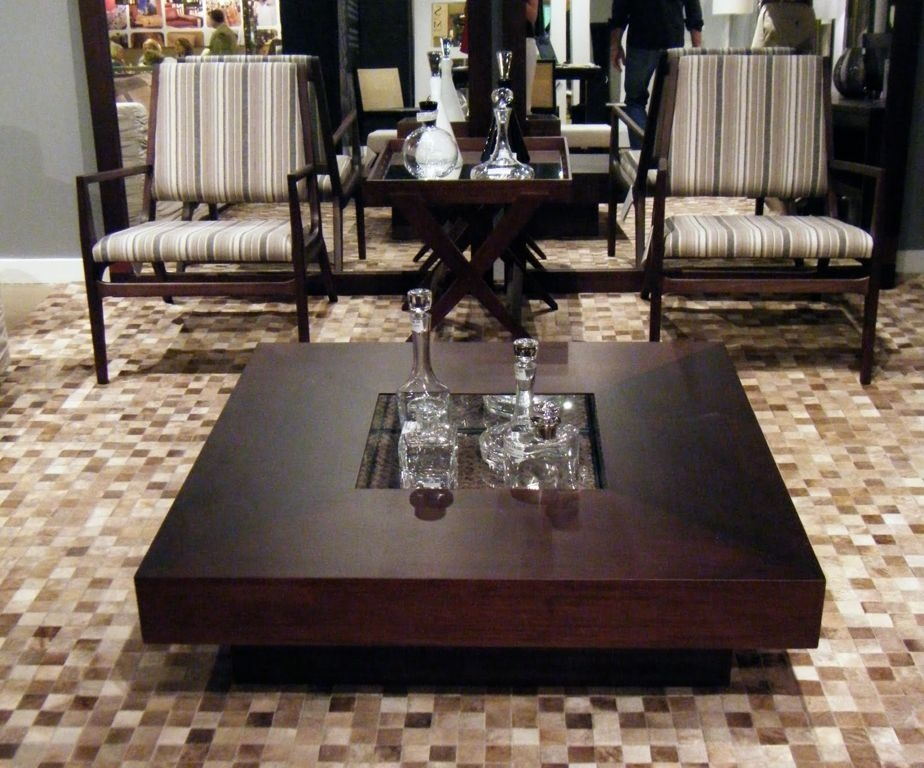 Excellent Famous Square Shaped Coffee Tables Inside Charming Living Room Furniture With Inspiring Decorative Wood (View 28 of 50)