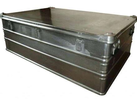 Excellent Famous Steamer Trunk Stainless Steel Coffee Tables Throughout Stainless Steel Trunk Coffee Table Jerichomafjarproject (Image 15 of 50)