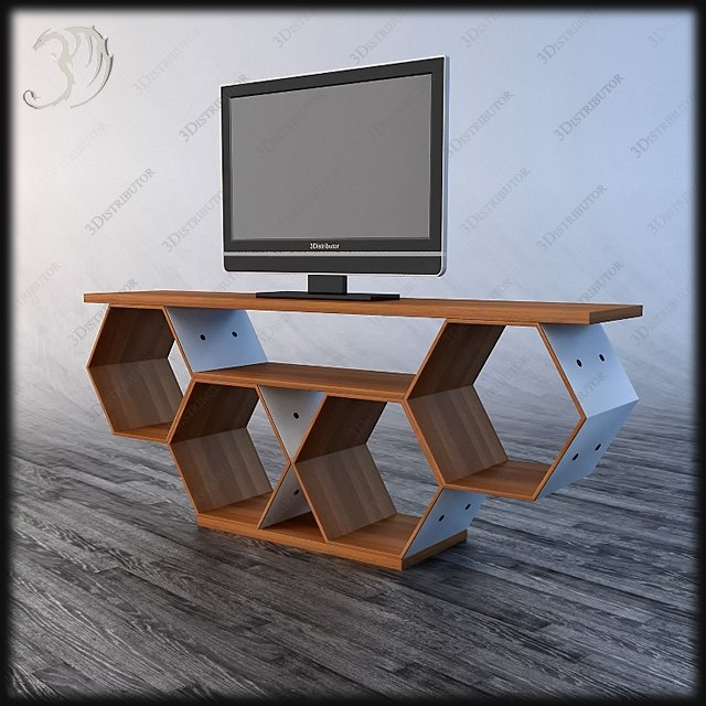 Excellent Fashionable Art Deco TV Stands Intended For Flai 3d Models 3distributor (Image 13 of 50)